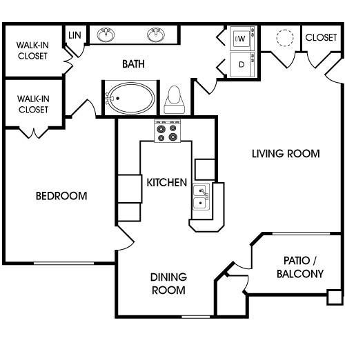 848 sq. ft. floor plan