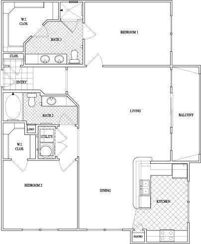 1,272 sq. ft. to 1,335 sq. ft. floor plan