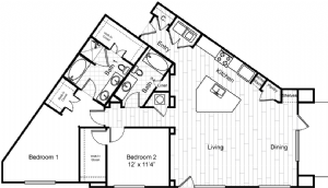 1,481 sq. ft. B3 floor plan