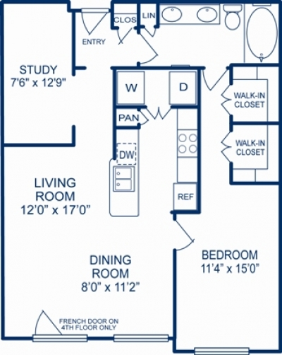 958 sq. ft. KNOXVILLE floor plan