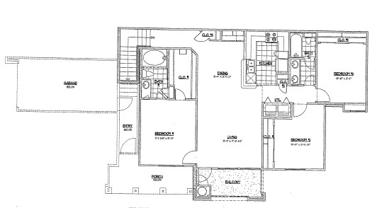1,325 sq. ft. G2/60% floor plan