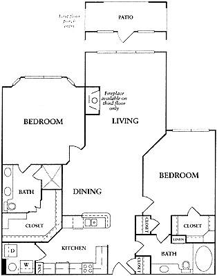 1,247 sq. ft. C1a floor plan