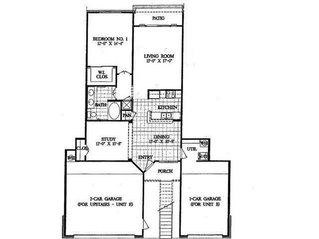 1,035 sq. ft. A2 floor plan