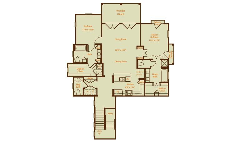 1,800 sq. ft. Balboa floor plan