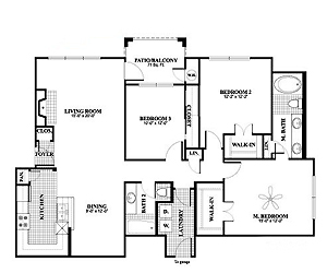 1,435 sq. ft. C1, ALT3 floor plan