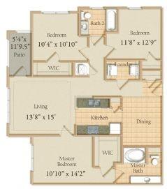 1,292 sq. ft. floor plan