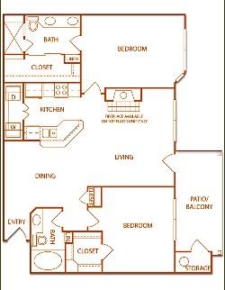 1,082 sq. ft. B3-Grove floor plan