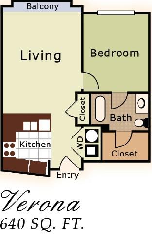 703 sq. ft. Siena floor plan