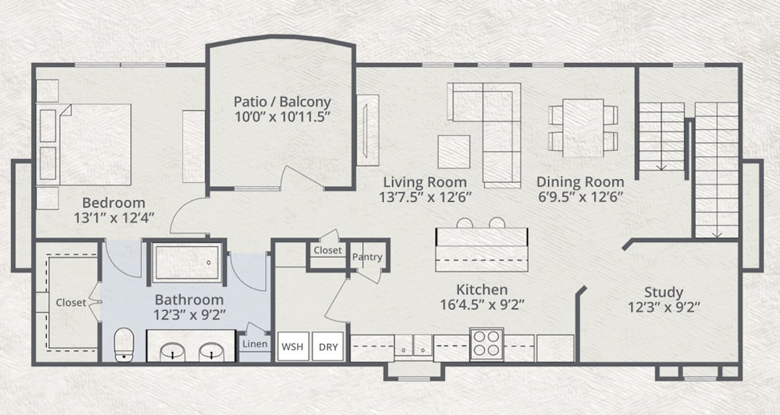 1,420 sq. ft. Alliance floor plan