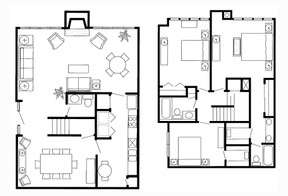 1,750 sq. ft. K Townhome floor plan