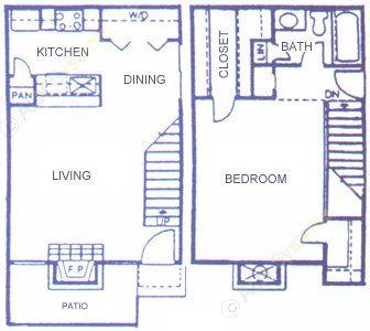 780 sq. ft. C floor plan