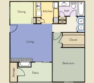 748 sq. ft. Regency floor plan