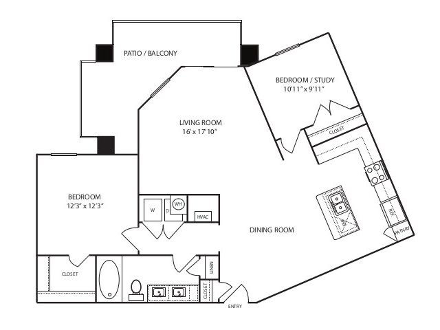 928 sq. ft. A4 alt 2 floor plan