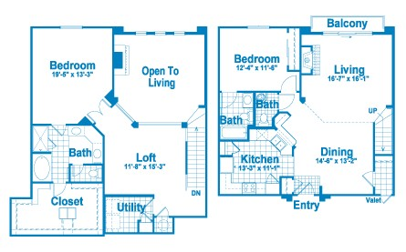 1,954 sq. ft. L4 floor plan