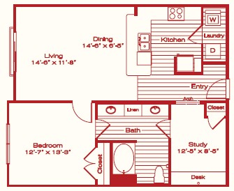 937 sq. ft. A4 floor plan