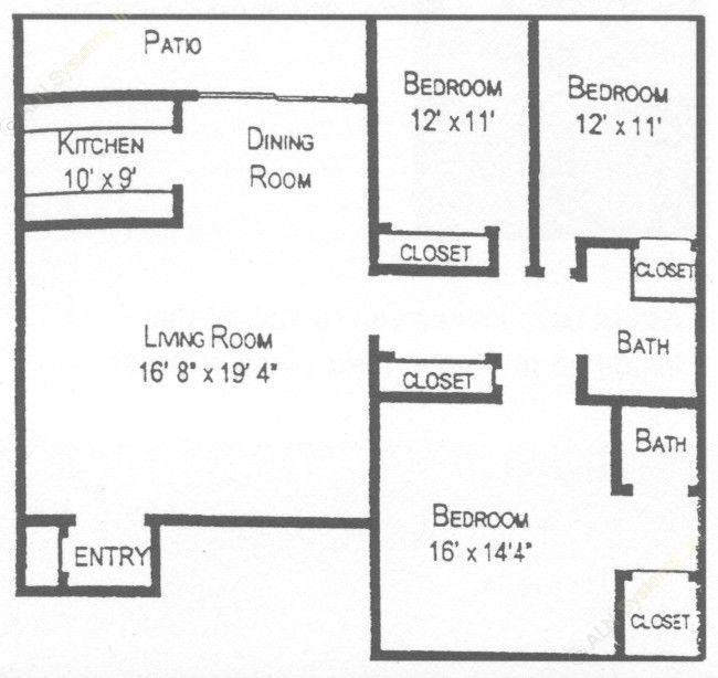 1,320 sq. ft. floor plan