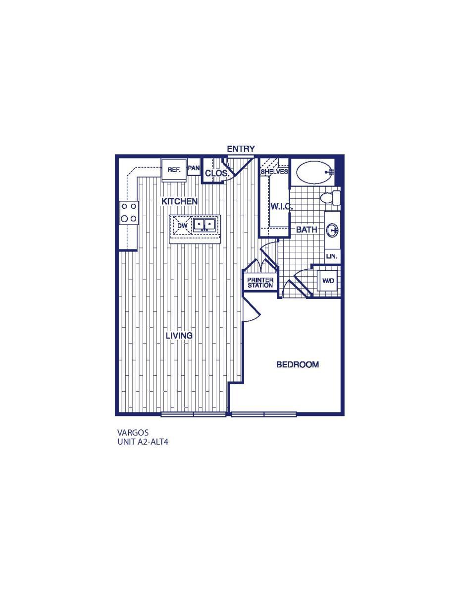773 sq. ft. A2 ALT 4 floor plan