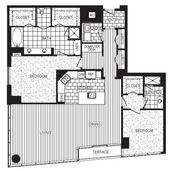 1,911 sq. ft. K floor plan
