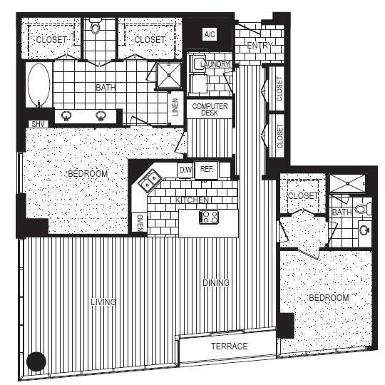 1,911 sq. ft. K floor plan