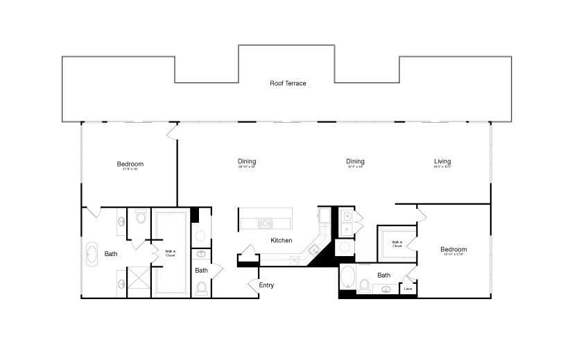 2,648 sq. ft. PH1 floor plan