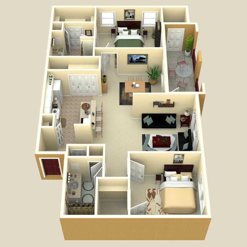 1,101 sq. ft. Valencia floor plan