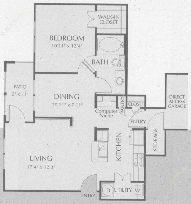 758 sq. ft. Comal floor plan