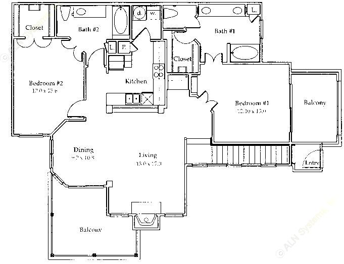 1,293 sq. ft. B5/Gar floor plan