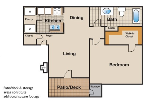 668 sq. ft. floor plan