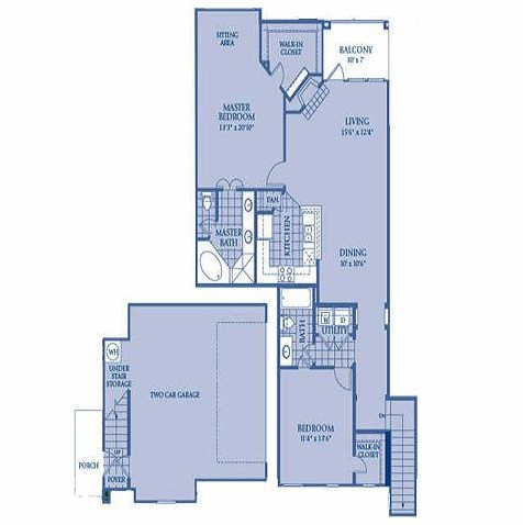1,364 sq. ft. Kalinda floor plan