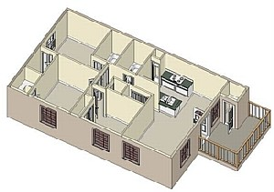1,039 sq. ft. 60 floor plan