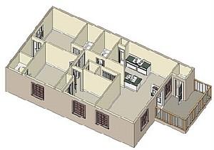 1,039 sq. ft. 60% floor plan
