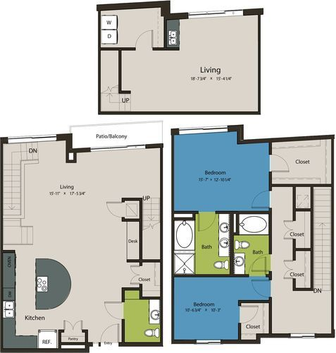2,122 sq. ft. TSE floor plan
