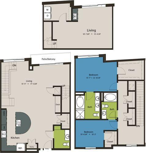 2,122 sq. ft. TSE floor plan
