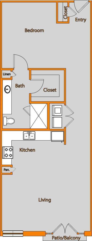 893 sq. ft. LOFT 6a floor plan