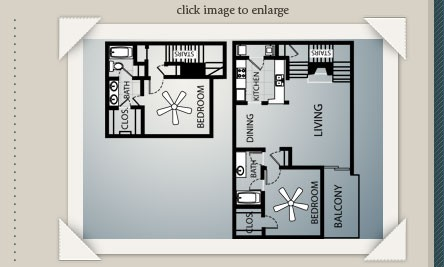 1,135 sq. ft. B2-GAR floor plan
