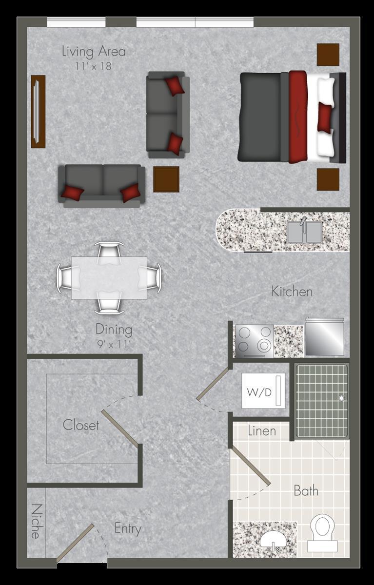 626 sq. ft. S-X3 floor plan