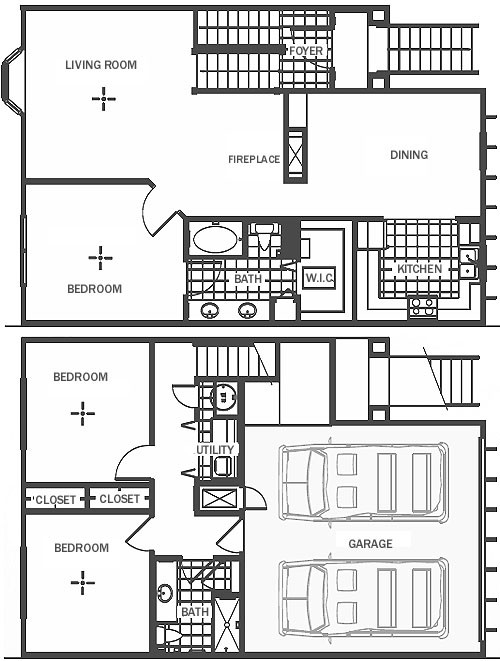 1,607 sq. ft. floor plan