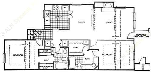 1,071 sq. ft. B4 floor plan