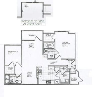 1,029 sq. ft. B 60% floor plan