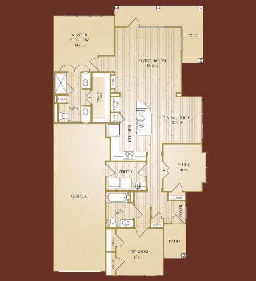 1,465 sq. ft. Travis floor plan
