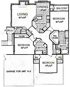 1,467 sq. ft. C1 floor plan