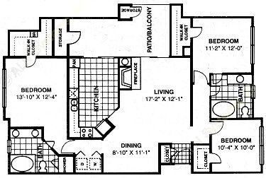 1,384 sq. ft. to 1,392 sq. ft. C1 floor plan