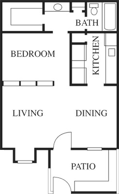 550 sq. ft. A floor plan