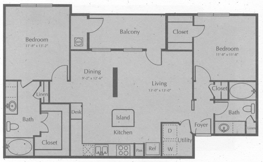 1,093 sq. ft. KEERVILLE floor plan