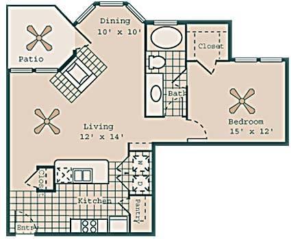 870 sq. ft. Swanson floor plan