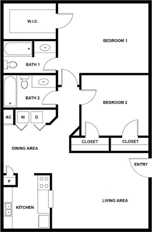 925 sq. ft. G floor plan