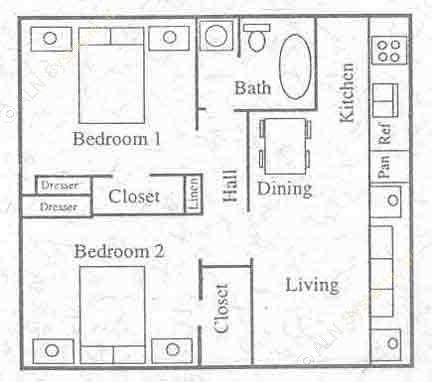 572 sq. ft. floor plan
