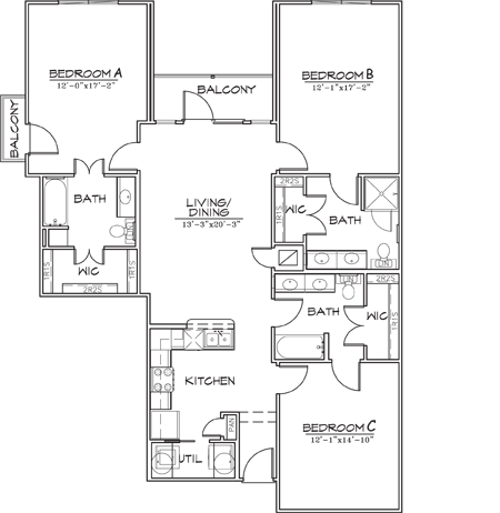 1,485 sq. ft. floor plan