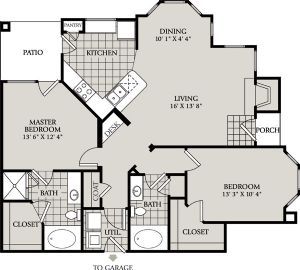 1,211 sq. ft. C7 floor plan