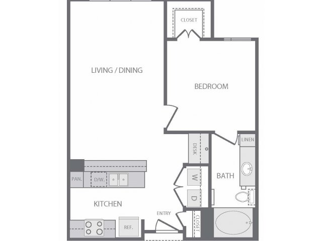 706 sq. ft. to 726 sq. ft. A4 floor plan